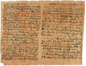 """Placas VI y VII del Papiro de Edwin Smith en el """"Rare Book Room"""", New York Academy of Medicine"""